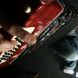 Play accordeon - Stock Photo