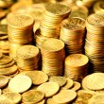 Golden coins — Stock Photo #9988549