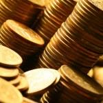 Golden coins — Stock Photo #9988556