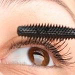 Putting mascara closeup — Stock Photo #9989779
