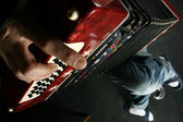 Play accordeon — Stock Photo