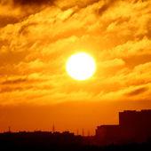 город закат — Стоковое фото