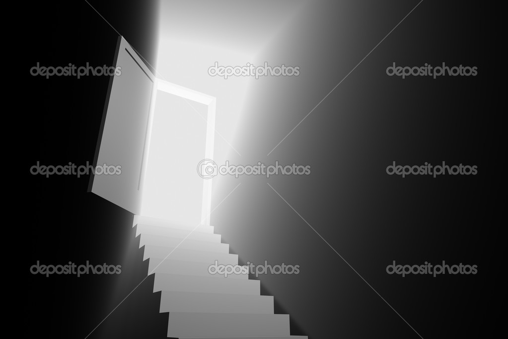 Light door to the new world 3d — Stock Photo #9989759