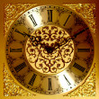 Golden wall clock — Foto Stock