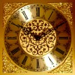 Golden wall clock — Stock Photo #9990202