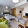 Stock Photo: Interior of modern apartment - bedroom & lounge