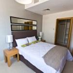 Interior of modern apartment - bedroom — Stock Photo