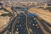 Al Dhaid road, Dubai, UAE, aerial view — Stock Photo