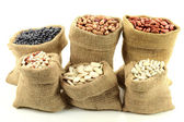 Different kinds Beans. — Stock Photo