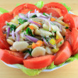 Huge Lima Beans Salad — Stock Photo
