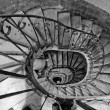 Old spiral stairs — Stock Photo