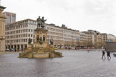 Rossmarkt square statue — Stock Photo