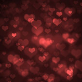 Heart-shaped bokeh background — Stock Photo