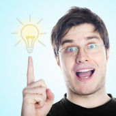 Guy with an idea — Stock Photo