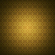 Wallpaper with golden hearts pattern — Stock Photo