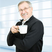 Senior businessman taking a break — Stock Photo