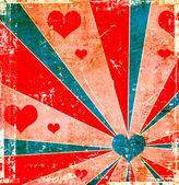 Grunge love background — Stock Photo
