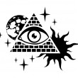 Pyramid and the eye - Stock Vector