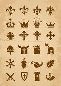Heraldische symbolen — Stockvector