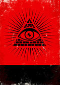 Pirâmide e o olho — Vetorial Stock
