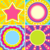 Set of colorful posters — Stock Vector