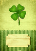 Illustration of clover with four leaves — Stok fotoğraf