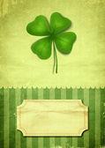 Illustrazione del trifoglio con quattro foglie — Foto Stock