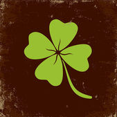 Clover with four leaves — Vector de stock