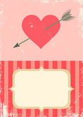 Heart with an arrow — Stock Vector