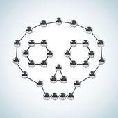 Chemická struktura — Stock vektor