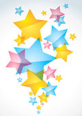 Fondo abstracto con las estrellas — Vector de stock