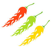 Chili peppers — Stock Vector