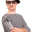 Royalty-Free Stock Photo: The Artist with Beret and Brushes