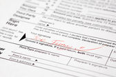 Funny signed tax form — Stock Photo