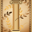 Antique Ionic Column — Stock Vector