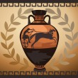 Antique Greek Vase — Stock Vector