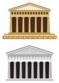Antique Greek Temple — Stock vektor
