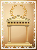 Antique Greek Background — Stock Vector