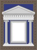 Antique Greek Temple — Stock Vector