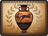 Antique Greek Vase — Stock Vector
