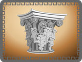 Corinthian Column Head — Stock Vector