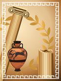 Símbolos griegos antiguos — Vector de stock