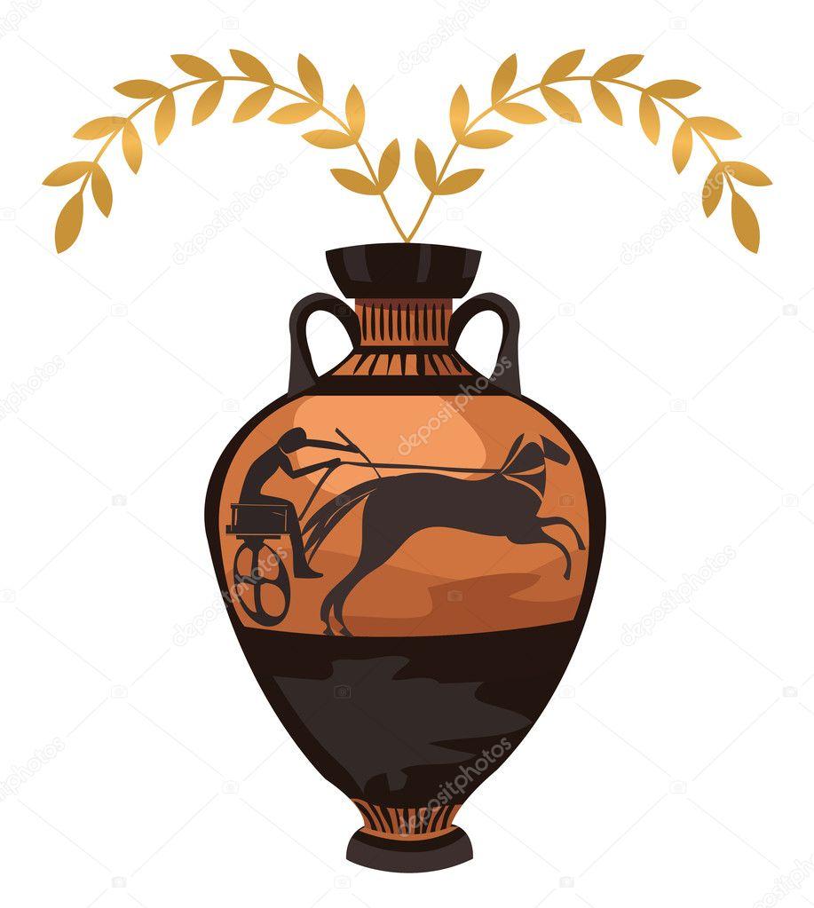 Antike griechische vase stockvektor dayzeren 10340384 for Vaso greco antico