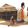 African Village - Stockvectorbeeld