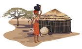 African Village — Stock Vector
