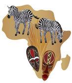 Symbols of Africa — Stock Vector