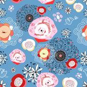 Ornamental flower pattern — Stock Vector