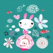 Royalty-Free Stock Vector Image: Little bunny