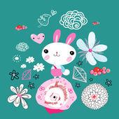 Little bunny — Stock Vector