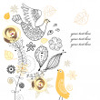 Plants and birds — Stock Vector #10589782